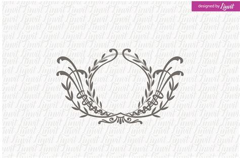 floral wedding monogram logo templates creative market