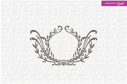 Monogram Floral Templates Creative