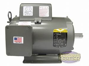 7 5hp Single Phase Baldor Electric Compressor Motor 215t
