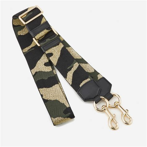 marc jacobs womens camo webbing bag strap black multi