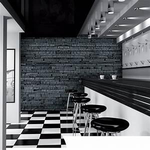 1 Wall Giant Wallpaper Mural Slate Stone Brick Effect 3 ...