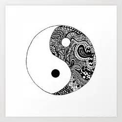 Zentangle Ying Yang