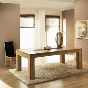 Table de salle à manger en chêne massif extensible Baobab 4 Pieds : tables, chaises et tabourets