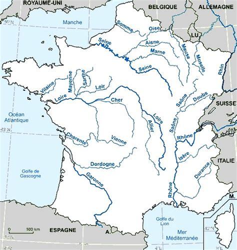 Carte De Avec Fleuves Et Rivières by Carte Fleuve Et Rivi 232 Re De