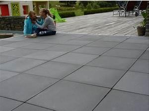 Dalles Beton Terrasse : dalle beton terrasse jardin allee garage kwadrato interblocs libramont ~ Melissatoandfro.com Idées de Décoration