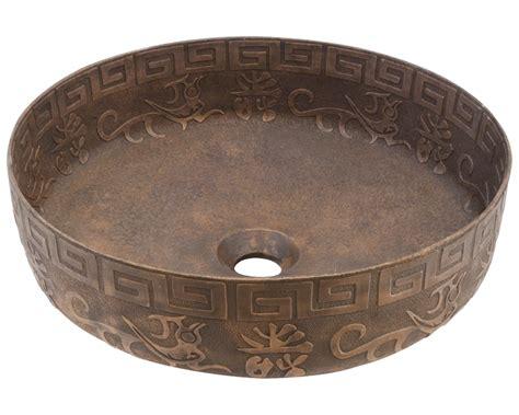Gold Single Bowl Vessel Bronze Bathroom Sink
