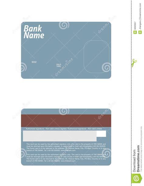 credit card template stock vector illustration  debit