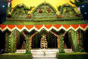 Sai Wallpaper: Sai Baba Mantap Decorated with Coconut Leaf