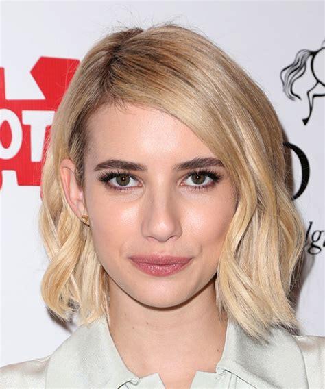Emma Roberts Medium Straight Casual Hairstyle   Light Blonde