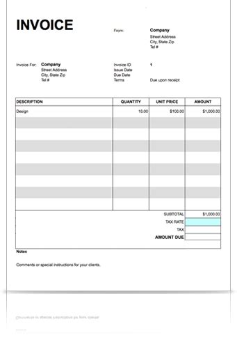 invoice template word doc free printable blank invoice templates free to do list