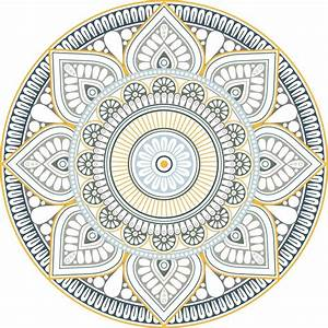 Tapis Rond Mandala : tapr0208 ~ Teatrodelosmanantiales.com Idées de Décoration