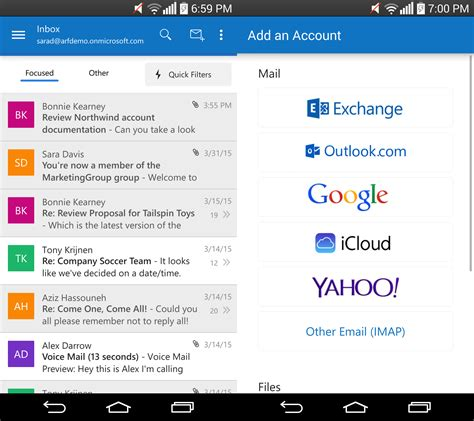 outlook for android microsoft launches outlook for android out of preview