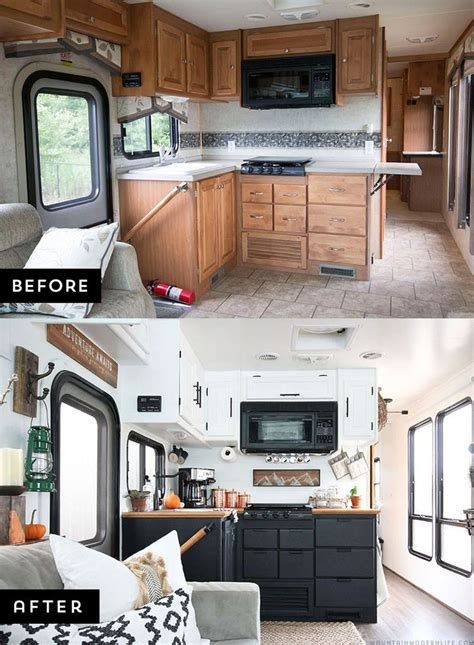 cer trailer kitchen ideas cer remodel ideas 39 cer remodeling rv and cing