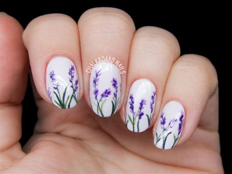 Nail Images Lavender Blossom Flowers Nail