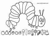 Caterpillar Hungry Coloring Very sketch template
