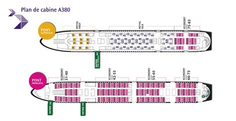 plan siege a380 thaiairways