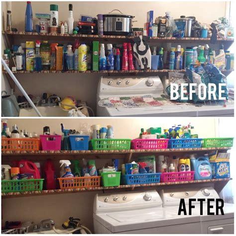 pin  jane crider  home garage  storage  stairs dollar store organizing clutter