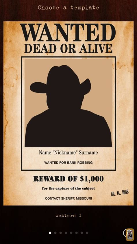 Wanted Poster Pro for iPhone & iPad - App Info & Stats ...