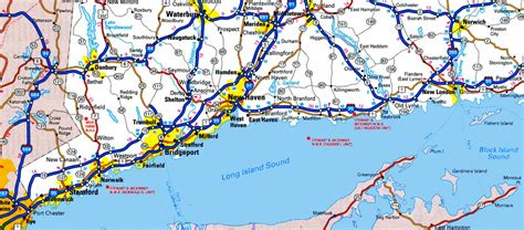 map  long island sound  cities  towns