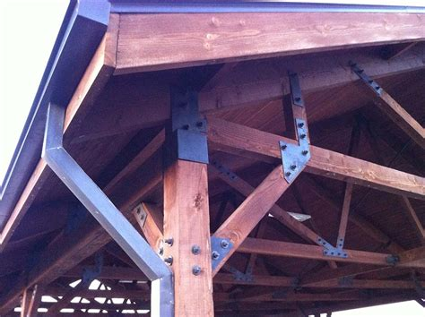 heavy duty metal hardware creates this patio cover in