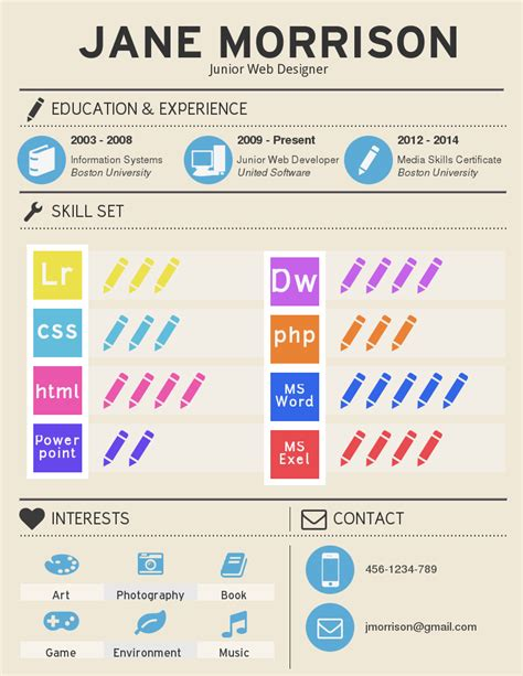 infographic resume template venngage
