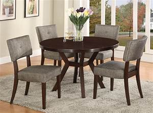Crown Mark Kayla 5 Piece Dining Table And Chair Set Dunk