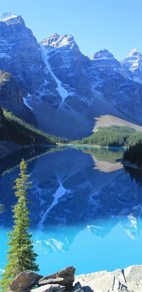 Moraine Lake In Banff National Park Outside The Village