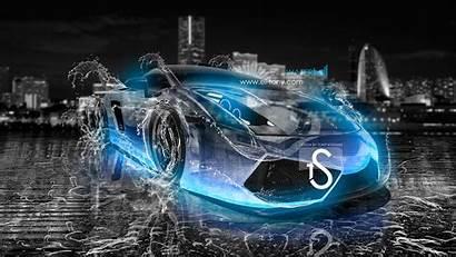 Neon Wallpapers Water Lamborghini Gallardo Purple Cars