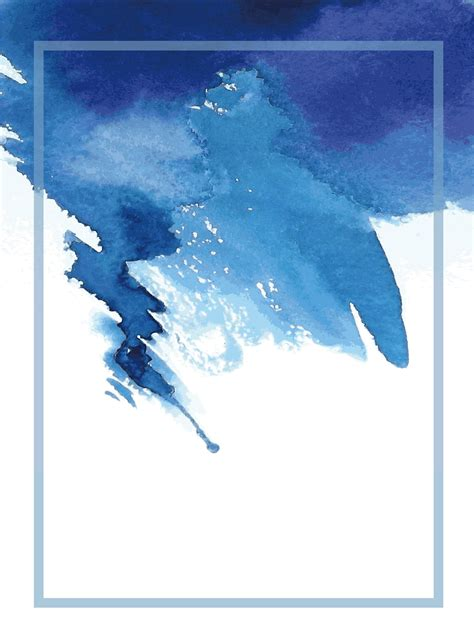 blue ink watercolor background blue watercolor frame