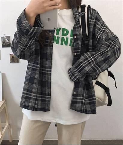 Loose Shirt Mixxmix Blend Check