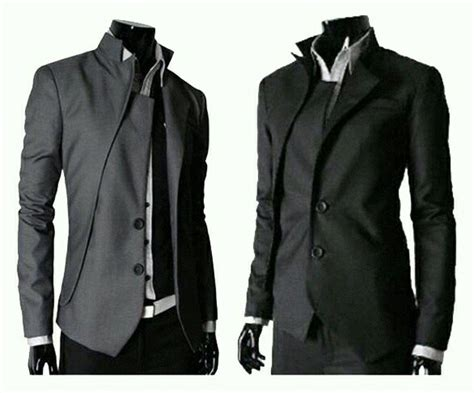 Jaket Jas Jas Modern Pria Hitam jual jas blazer pria gakuran abu dan hitam di lapak