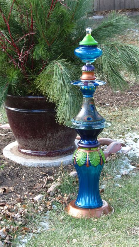 83 Best Images About Glassware Garden Totems & Glass Art