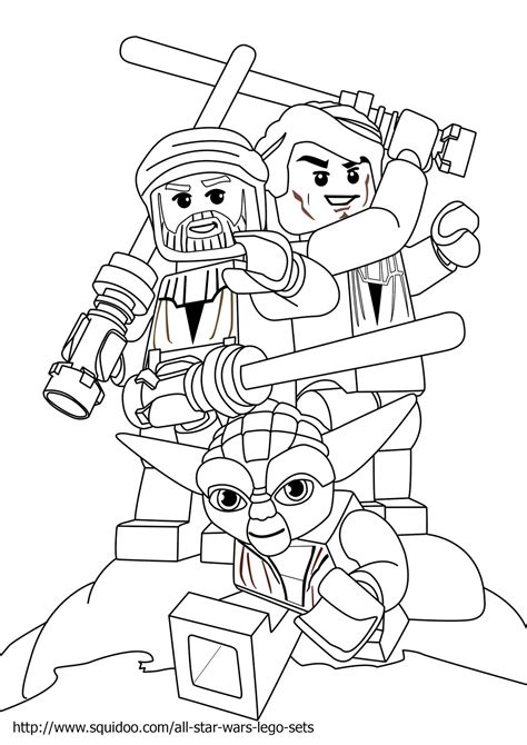 lego star wars luke skywalker coloring page  printable