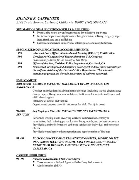 field investigator sle resume 28 images criminal