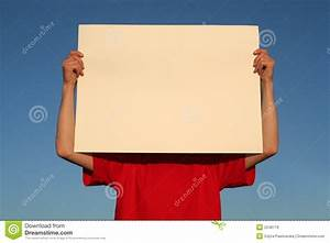 Man Holding Blank Poster Board Stock Image - Image of ...