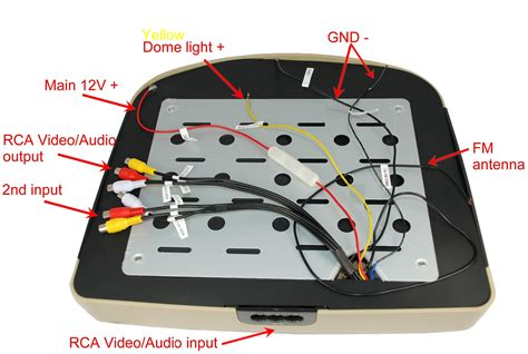 Flip Dvd Player Wiring Diagram by 12 Inch Car Overhead Flip Dvd Player Lcd Monitor