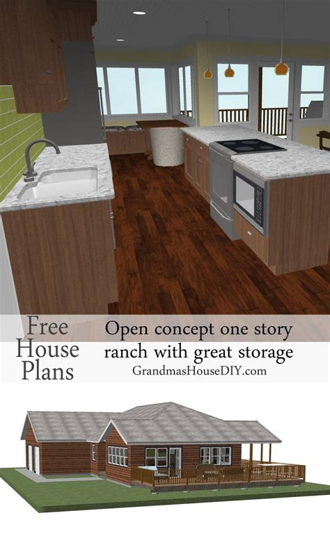 house plan  easy   story ranch grandmas house diy
