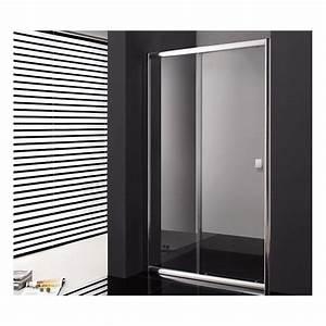paroi de douche coulissante cronos 140 cm robinet and co With porte de douche coulissante avec meuble salle de bain 140 cm double vasque sur pied