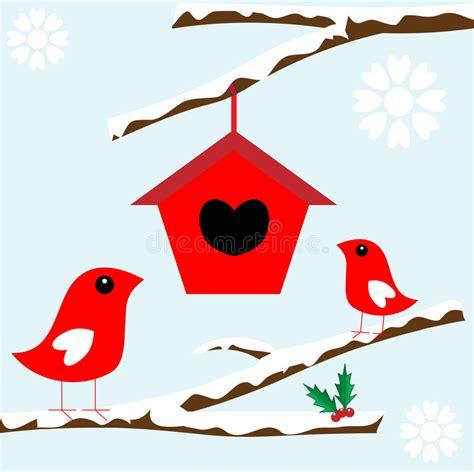 baum mit vögel v 246 gel im baum mit schnee f 252 r weihnachten vektor abbildung illustration blau abbildung