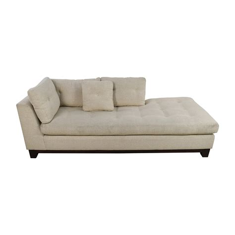 tufted sofa with chaise 79 off freestyle freestyle tufted natural fabric sofa