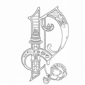alice stanne more illuminated letters lettering and With illuminated alphabet templates