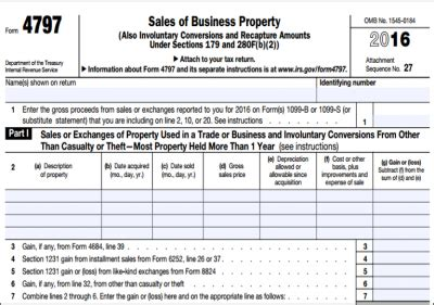 form 4797 sale of assets the the bad and the