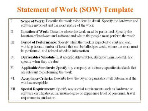 statement  work templates word excel
