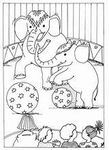 Circus Coloring Pages Printable Elephant sketch template