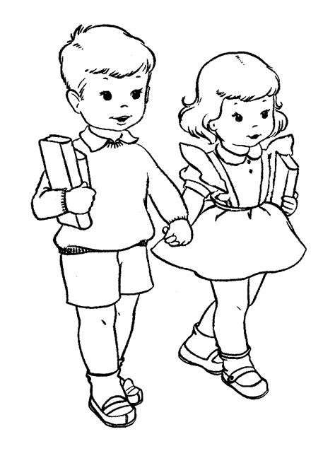 mewarnai gambar berangkat sekolah untuk anak