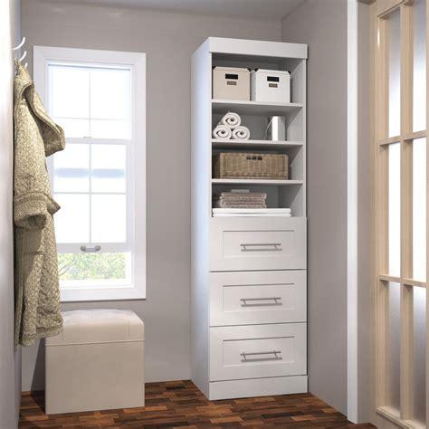 pur by bestar 26871 25 in 3 drawer storage tower wood