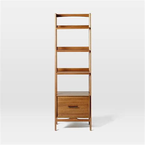 Midcentury Bookshelf  Narrow Tower  West Elm
