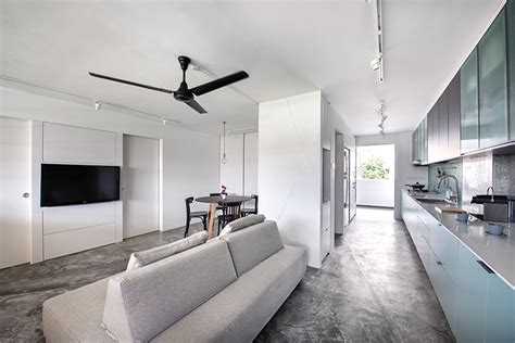 Grey Living Room Hdb by This 4 Room Hdb Flat Is Transformed Into An Open Concept