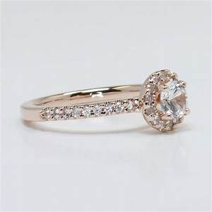fabulous rose gold halo diamond engagement With fabulous wedding rings