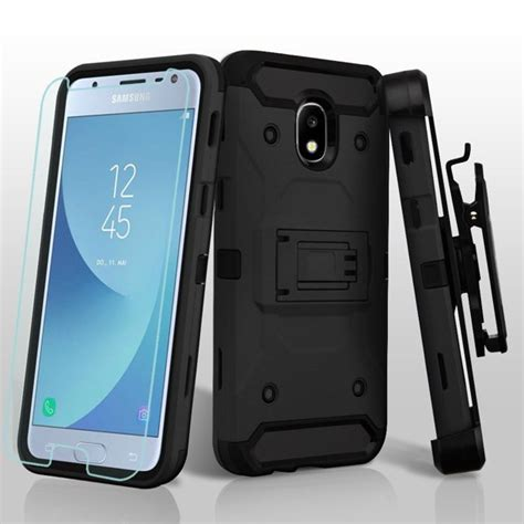 3-IN-1 Kinetic Hybrid Armor Case with Holster and Tempered